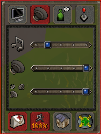 Audio settings for Old School RuneScape.