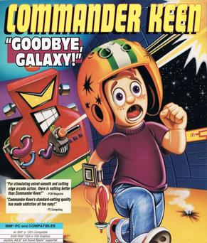 Commander Keen in The Armageddon Machine cover