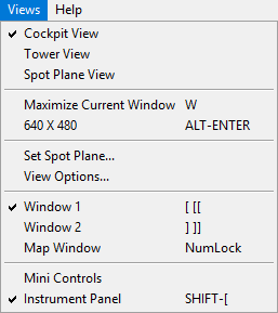 View options.