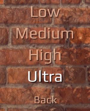 Graphics quality settings.