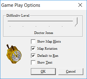 Gameplay options.