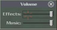Volume settings.