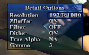 Detail options menu.
