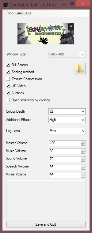 Visionaire Configuration Tool.